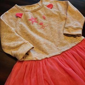 Gap grey and pink dress